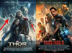 'Thor: The Dark World' Poster Looks Exactly Like The One For 'Iron Man 3'
