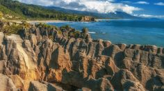 The Pancake rocks of Punakaiki, New Zealand