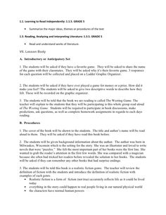 Westing Game Part 1 (chapters 1-19) Test with answer key | Final ...