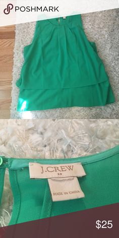J.Crew green tank top. Worn once. Beautiful bright green tank top. Perfect for work or a day out with friends! J. Crew Tops Tank Tops