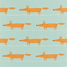 Stof Scion Mr Fox Fabric 120072 - Luxury By Nature