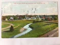 Early 1900s View of City From Fair Grounds Park, Rockford, IL postcard