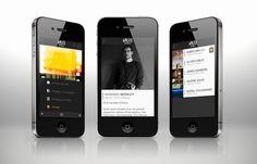 Rencontres d'Arles 2012 - official iPhone app by Aline Kesting, via Behance