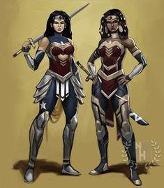 Female Superhero, Superhero Design, Black Anime Characters, Dc Characters, Wonder Woman Art, Wonder Women, Amazons Wonder Woman, Dc Comics Girls, Black Comics