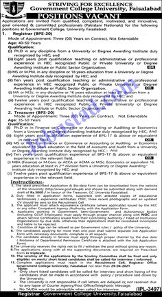 GCUF Jobs 2021 has been announced through the advertisement and applications from the suitable persons are invited on the prescribed application form. In these Government College University Faisalabad Jobs 2021 the eligible Male/Female candidates from across the country can apply through the procedure defined by the organization and can get these Jobs in Pakistan 2021 after the complete recruitment process.