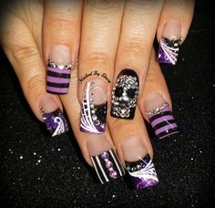 Halloween Haunted Circus Nails by NailedByStacy - Nail Art Gallery nailartgallery.nailsmag.com by Nails Magazine www.nailsmag.com #nailart