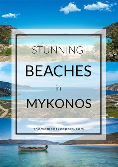 Stunning Beaches in Mykonos. Mykonos has different types of beach to fit your mood.  Either you are looking for a party beach, cosmopolitan type, family friendly, secluded beach or picturesque type like what we looked for – Mykonos surely has it! :)  #bea