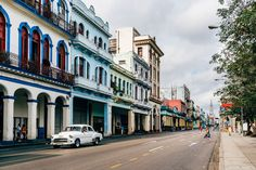 Classic Car on Havana Streets - Photography Fine Art Print, 1950s Car, Classic Car, Travel Photography, Cuban Art, Cuba Car, Architecture by SimoneDFPhotography on Etsy