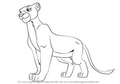 Learn How to Draw Nala from The Lion King (The Lion King) Step by Step : Drawing Tutorials
