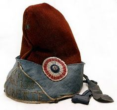 Phrygian cap, late-18th century, used by French Revolutionaries as a symbol of liberty.