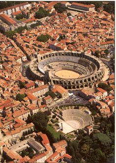 """Arles, France. """"Arles boasts a very well preserved Roman arena and theatre where performances take place all summer. It is the capital of Camargue."""""""