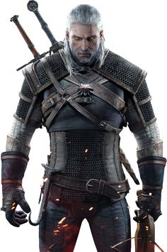 The Witcher 3 - Geralt Render By Ashish913 by Ashish913 armor clothes clothing fashion player character npc | Create your own roleplaying game material w/ RPG Bard: www.rpgbard.com | Writing inspiration for Dungeons and Dragons DND D&D Pathfinder PFRPG Warhammer 40k Star Wars Shadowrun Call of Cthulhu Lord of the Rings LoTR + d20 fantasy science fiction scifi horror design | Not Trusty Sword art: click artwork for source