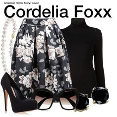 Inspired by Sarah Paulson as Cordelia Foxx on American Horror Story: Coven.