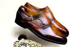Berluti Single Monks in patina done by Dandy Shoe Care