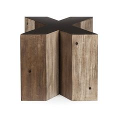 Wooden Alphabet X Side Table