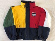 2e1d6101 Vintage 90's Tommy Hilfiger Color Block Jacket Large Sailing Gear Patch  Spelled