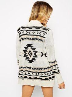 Apricot Long Sleeve Geometric Cardigan Sweater 22.33