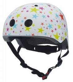 STARS COCONUTS 5-14Jr  hoofdomtrek 53-58cm  Elke CoConut helm heeft een uniek design in aansprekende kleuren. De helm is robuust, handig en voorzien van de vereiste veiligheidskeurmerken en verpakt in een mooie retaildoos. De helm heeft een verstelbare binnenring die, door middel van een verstelbare hoofdband, altijd in de juiste pasvorm te stellen is.   http://www.kinderhelmen.be/detail/538810-3011-STARS-COCONUTS-5-14Jr