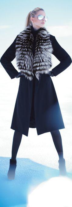 0649f985edd Sofia Cashmere Feathered Fur Coat. Faux Fur JacketVest ...