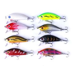 48pcs/lot Fishing Lures Set Mixed Lure Artificial Professional Crank Minnow Bait Wobblers Fishing Tackle Outdoor Simulation Lure