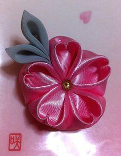 Promo Price Ume tsumami kanzashi flower hair by lynhanaya on Etsy, $5.00