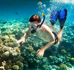 Snorkling in Cham Islands