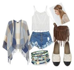 """""""Boho look!"""" by mikai-toot on Polyvore featuring Dorothy Perkins, WithChic, Glamorous, Chanel, Accessorize, women's clothing, women, female, woman and misses"""