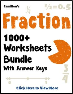 math worksheet : 1000 images about camillon  on pinterest  fractions  : Working With Fractions Worksheets