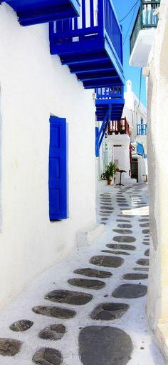 Blue & White of Mykonos, Greece