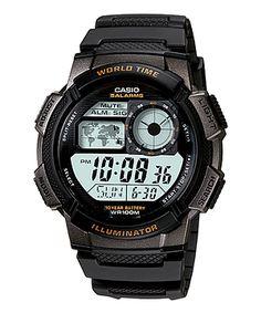 Casio Illuminator Mens Black Bezel Digital Sport Watch AE1000W-1AV Bulova 8a80097a68
