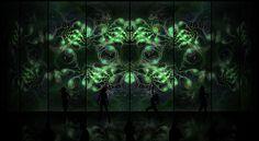 Cosmic Alien Vixens Green fractal - find more fractals - ShawnDall.com