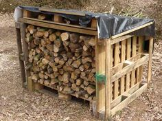 palletbox (stack side pallets on bottom pallet) this would work along side of house
