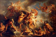 Charles-Antoine Coypel. The Fury of Achilles, 1737