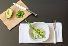 Yummy green risotto with peas and avocado. Healthy and quick dinner or lunch (recipe in Slovak)