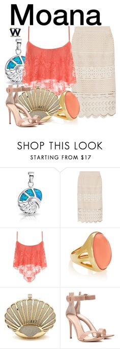 """Moana"" by wearwhatyouwatch ❤ liked on Polyvore featuring Bling Jewelry, Sea, New York, WearAll, Kenneth Jay Lane, Gianvito Rossi, television and wearwhatyouwatch"