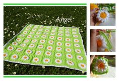 This Crochet Daisies Flower Blanket is beautiful. It's a gift idea for newborn or baby shower. You can also use Daisies Flower to make other things.