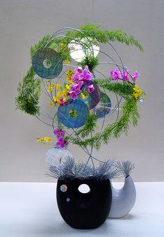 IKEBANA, Ikenobo flower arrangement 3 by M. TANIGUCHI, via Flickr