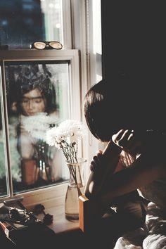 portrait through reflection