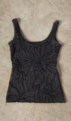 a10fb9baf9 DIY Magdalena Scoopneck Camisole Top Fabric Embellishment