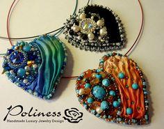 Jewellery - Pendants - Beaded pendant - Swarovski necklace - Necklaces - Handmade jewelry - gift for woman