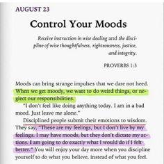 Discipline your moods
