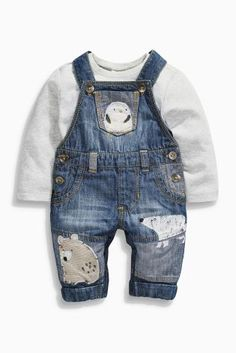 Buy Animal Denim Dungrees (0-18mths) online today at Next: United States of America