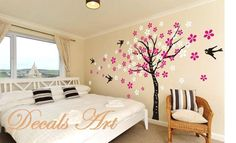 Cherry Blossom 51  Vinyl wall sticker wall decal tree by DecalsArt, $39.00