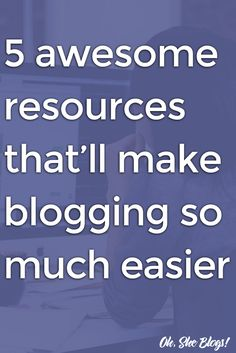 Blogging Tips: Here are 5 of our favorite resources that'll make blogging so much easier, including Yoast, BuzzSumo, Designista & more!  via @ohsheblogs