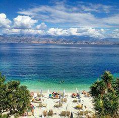 Kassiopi, Corfu-Greece Kassiopi Corfu, Corfu Greece, Greece Holiday Destinations, Corfu Holidays, Corfu Island, Greece Islands, Beautiful Beaches, Wonderful Places, Scenery