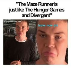 And actually if youre gonna be like that, peasant, the mazerunner was made first so :P