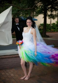 I could never decideey are all beautiful httpetsy rainbow wedding dress by sparklefide junglespirit Image collections