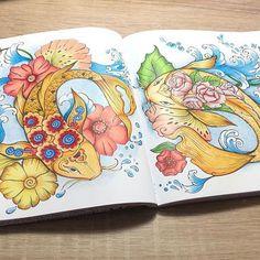 #ritaberman #dieweltunterderlupezuwasser #prismacolor #malbuchfürerwachsene #malbuch #adultcoloringbook #coloringbook #coloringfun #coloringcommunity