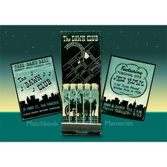 Jazz Music Wall Decor The Dawn Club San Francisco Feature Matchbook Print wall art by MatchbookMemories, $15.00