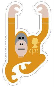British Animail Orangutan stamp 2016